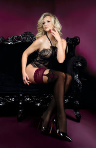 Stunning black and purple stockings
