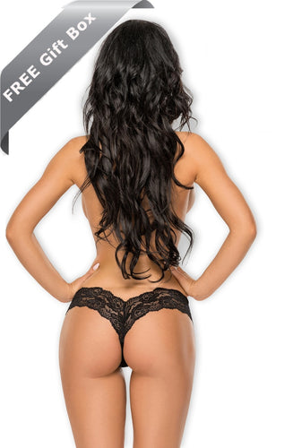 Erotic lace thong + FREE gift box