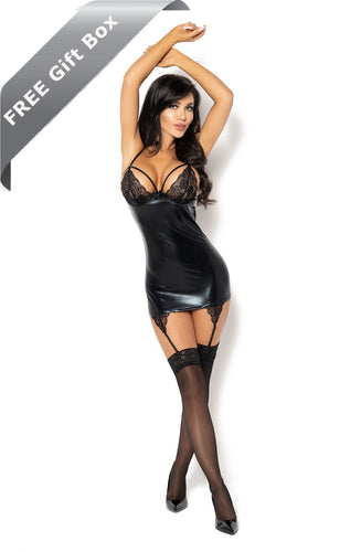 The extremely seductive wetlook chemise + FREE gift box