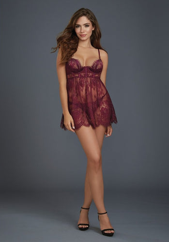 Plum lace nightie