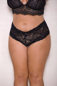 Pearl Boyshort with lace