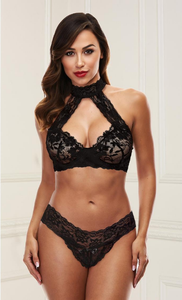 Flirty and sexy black bra set