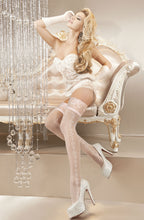 White bridal stockings