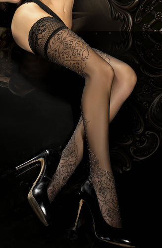 Black sparkly stockings