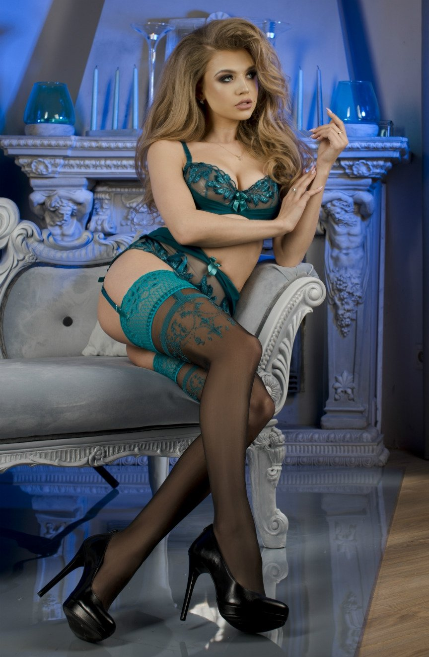 Elegant turquoise stockings