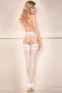 Delicate bridal stockings