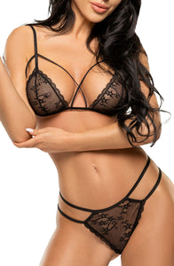 Exciting bra set with delicate lace