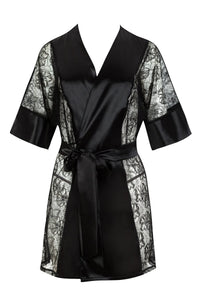Extremely sexy satin dressing gown