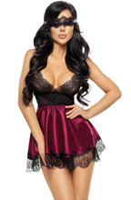 Gorgeous lace nightdress with sensual lace mask