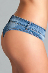 Cheeky Denim Booty Short Hot Pants with Low Waist