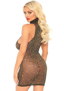 Sexy lurex shimmer mini dress