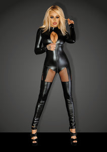 Ultra sexy wetlook catsuit