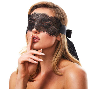 Sensual boudoir lace blindfold