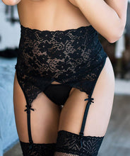 High waist suspender belt