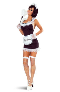 Sexy dress french maid halloween costume
