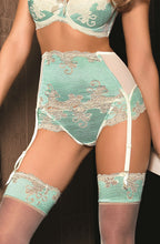 Elegant cream and mint thong