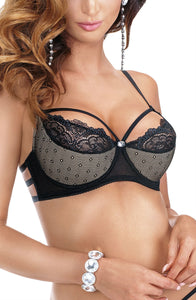 Gorgeous push up bra with a choker