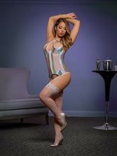 Chic metallic bustier and g-string set