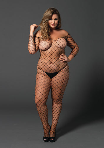 Hot plus size fishnet bodystocking