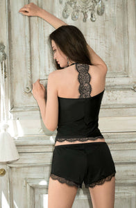 Beautiful black satin short