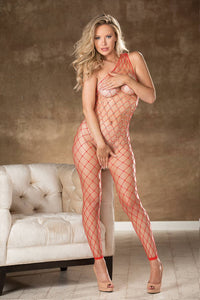 Sparkly fishnet crothless bodystockings