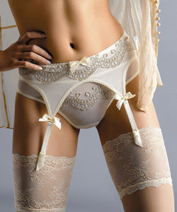 Gorgeous bridal suspender belt
