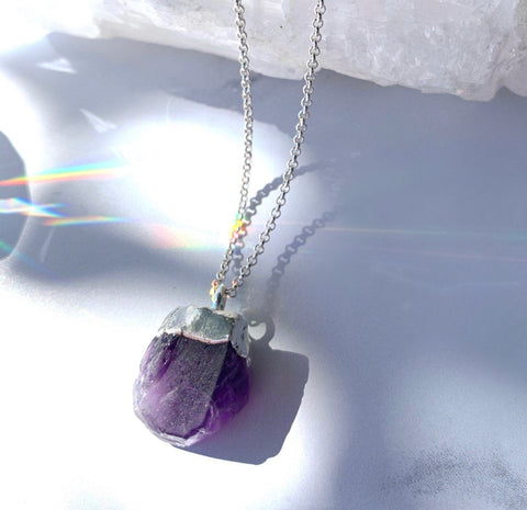 Rough Amethyst Nugget Necklace