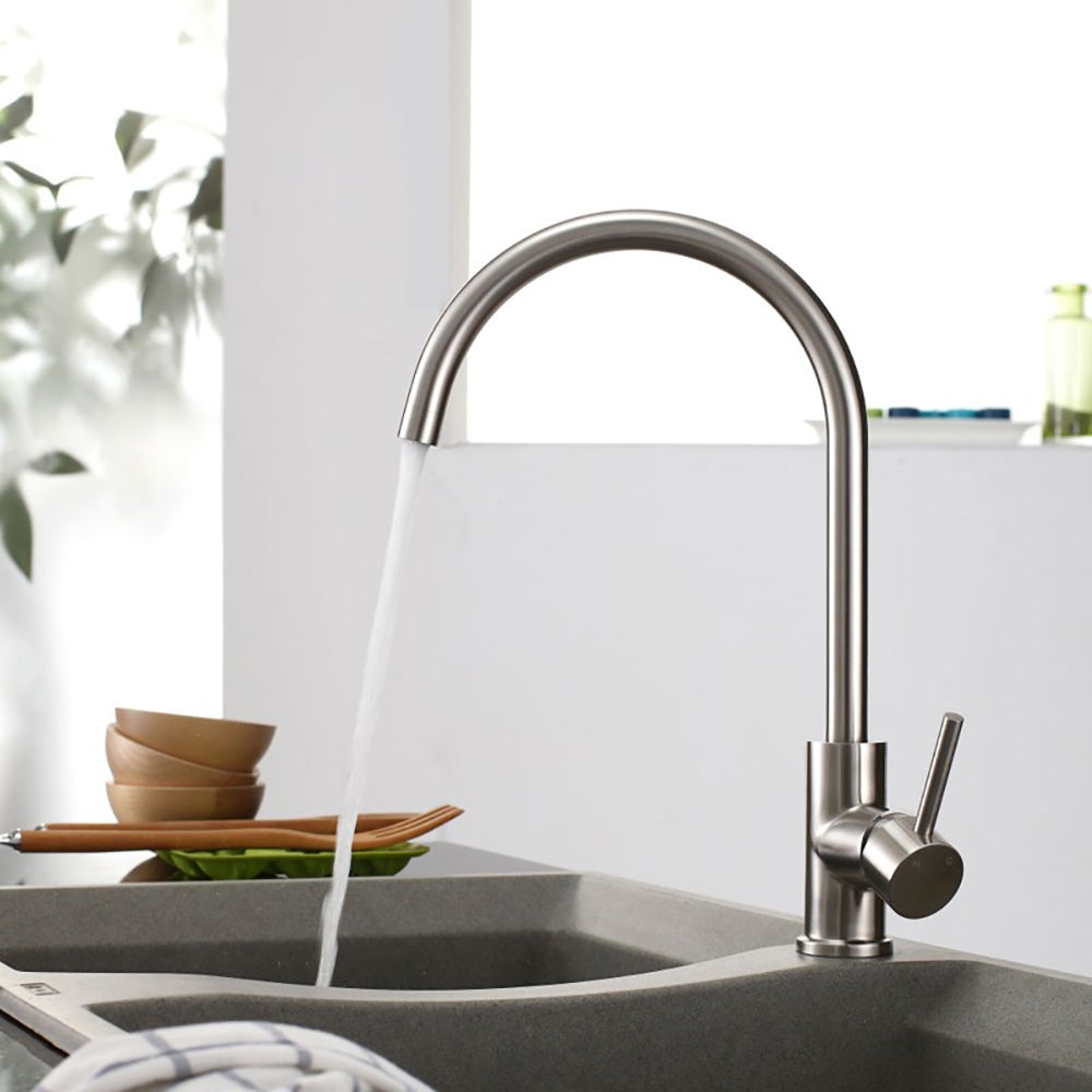 Cosmos Round Single Hole Bar Kitchen Or Bathroom Vessel Sink Faucet Raen Homes