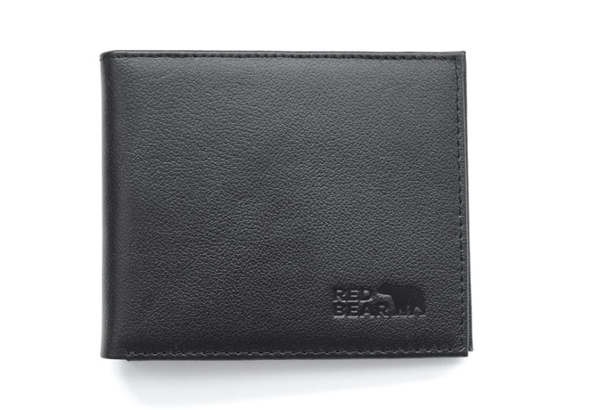 Black Buffalo Leather Security Wallet
