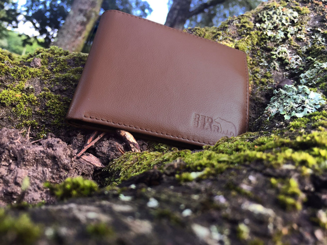 Dark Brown Buffalo Leather Security Wallet