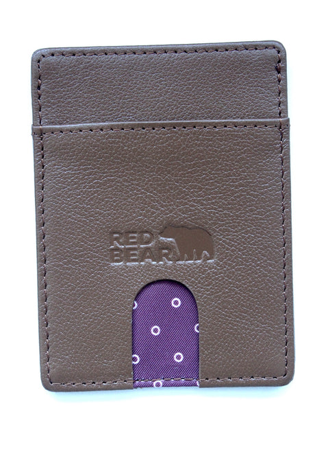 Tan Buffalo Leather Card Holder