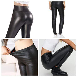 High-Waisted Faux Leather Leggings