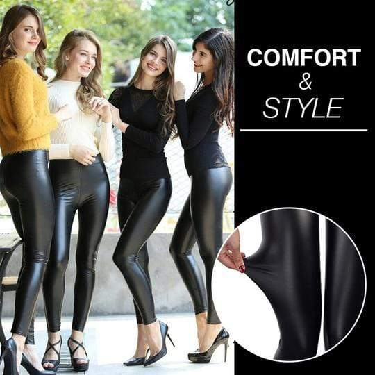 Shaper™ Black Leather Leggings