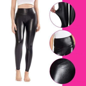 High-Waisted Faux Leather Leggings Shaper™ XS