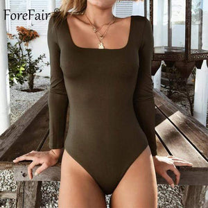 Bodycon Bodysuit Shaper™ Athletics Army Green XL