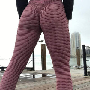 Butt Lifting Leggings x Anti-Cellulite Shaper™ Leather Pink L