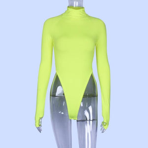 High Neck Sexy Bodysuit Shaper™ Athletics Green S