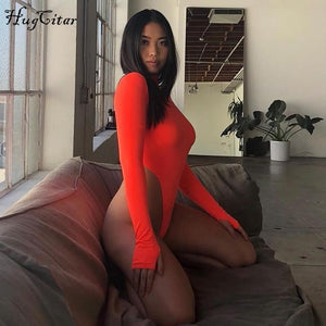 High Neck Sexy Bodysuit Shaper™ Athletics Orange S
