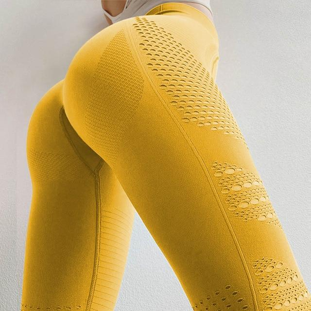 Push Up Ombre Leggings Shaper™ Yellow S