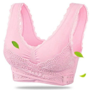 Instant Lift Front Cross Side Buckle Lace Bra Shaper™ Athletics Light Pink XXL