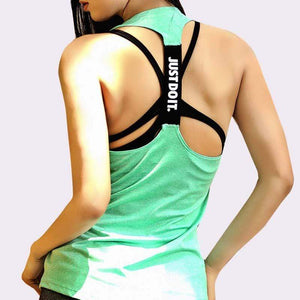 Just Do It Workout Tops Shaper™ Athletics Green L