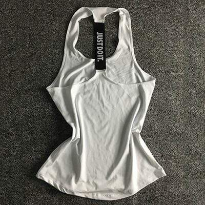 Just Do It Workout Tops Shaper™ Athletics White L