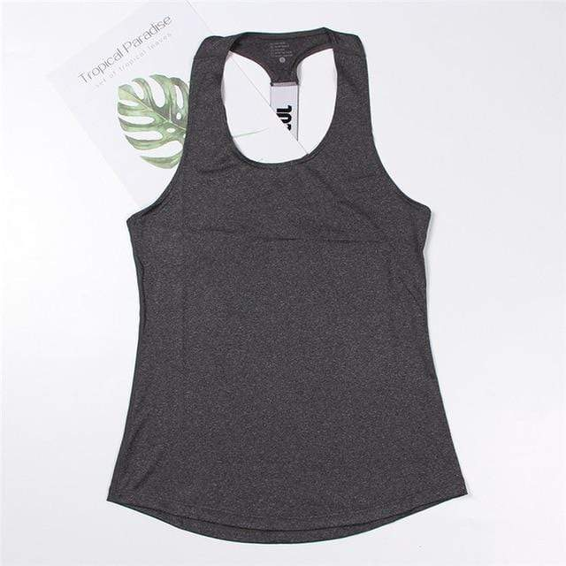 Professional Workout Tops Shaper™ Athletics Gray L