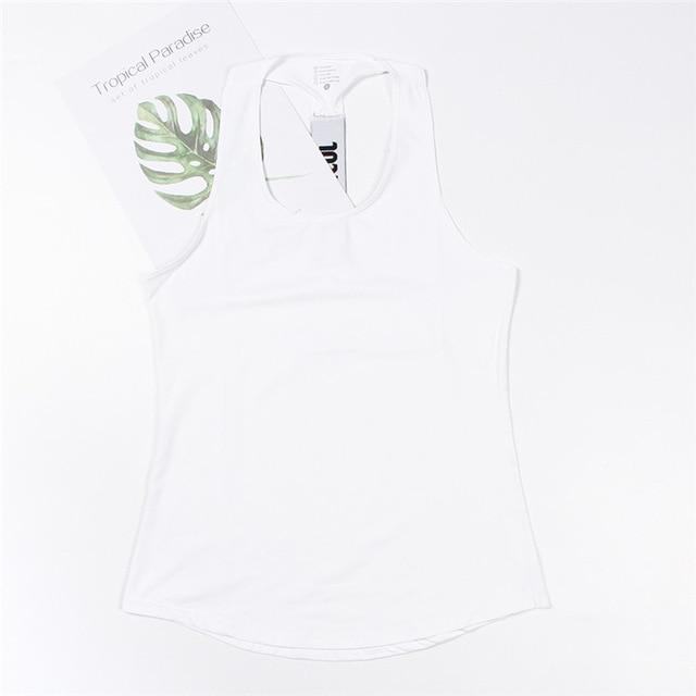 Professional Workout Tops Shaper™ Athletics White L