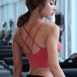 Cross Back Running Shirt Shaper™ Athletics Red L