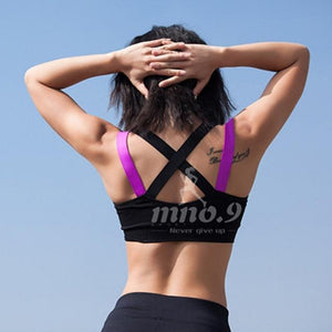 Cross Back Running Shirt Shaper™ Athletics Dual Black L