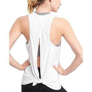 Open Back Sport Tank Tops Shaper™ Athletics White S