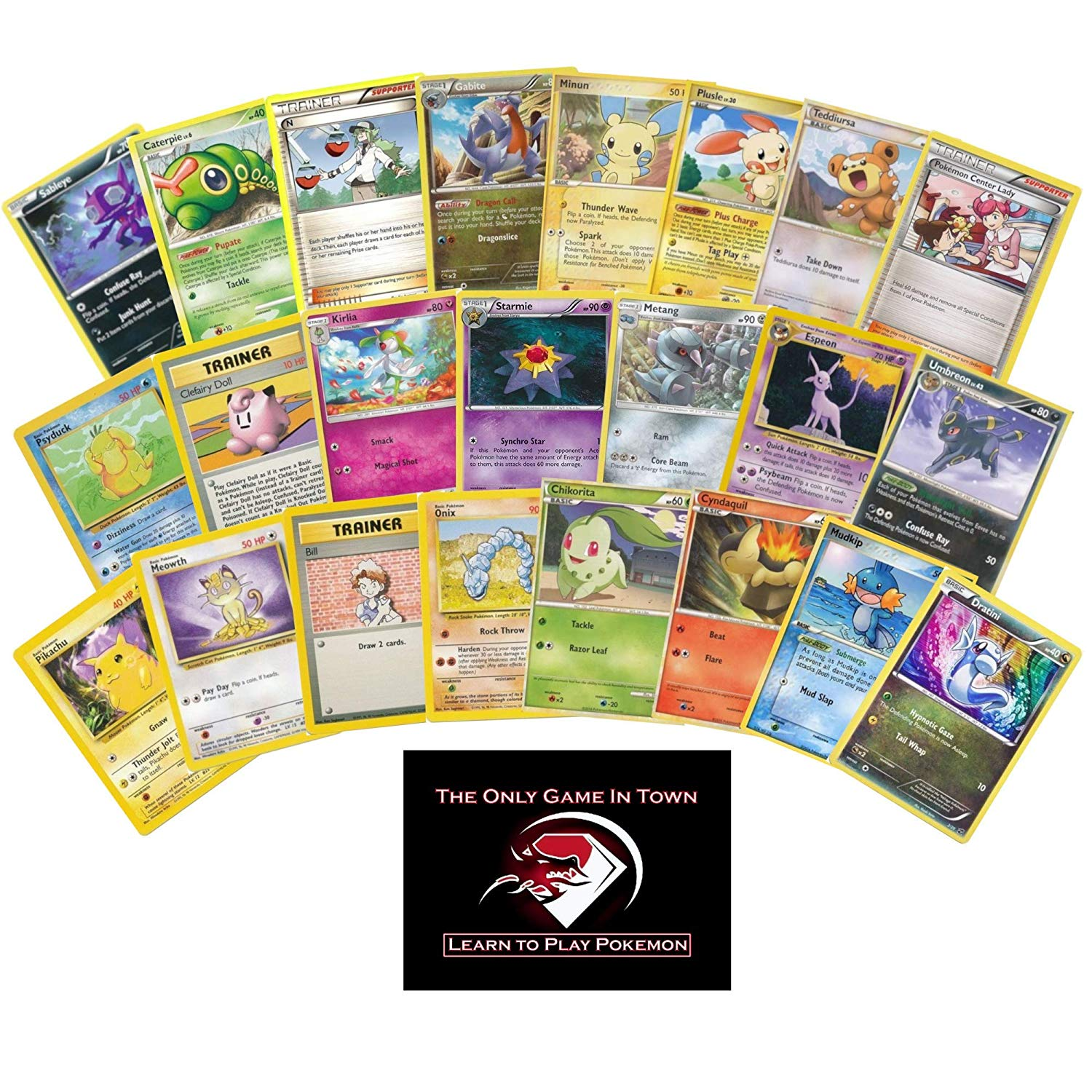 100 Pokemon Card Starter Kit with Learn to Play Instructions