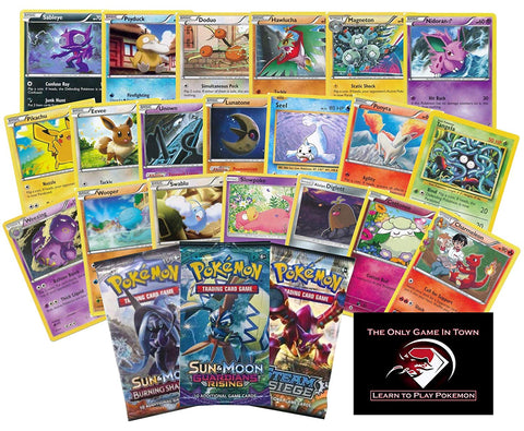 100 Pokemon Cards Plus a Bonus 10 Card Sealed Booster Pack and Learn to Play Pokemon Starter Set with Instructions