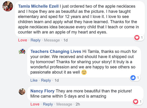 Teacher Apple Necklace Review 7